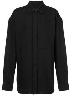 рубашка с потайной пуговичной планкой Ann Demeulemeester