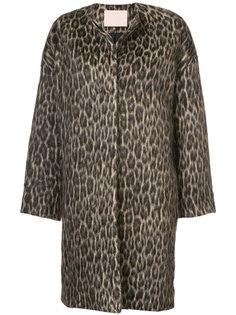 animal print coat Brock Collection