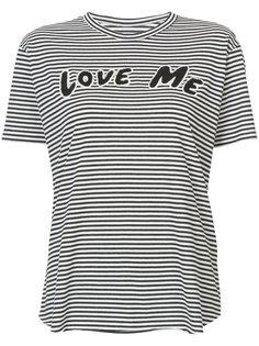 love me patch striped T-shirt Sandrine Rose
