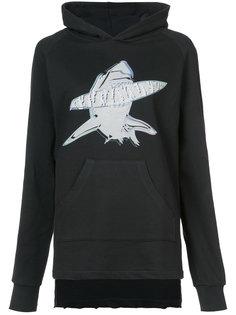 shark print hoodie Baja East