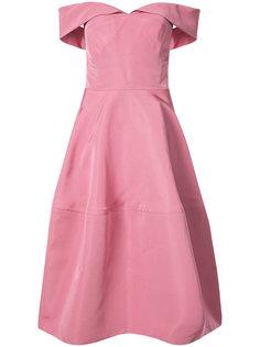 off-shoulder A-line dress Christian Siriano