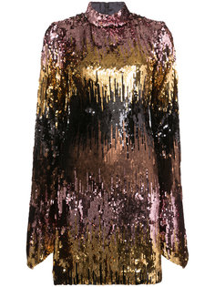 all-over sequin dress with bell sleeves Christian Siriano