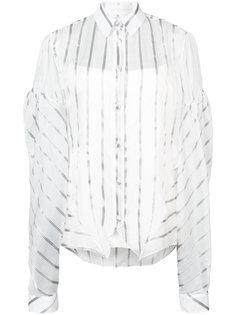 striped oversized sleeve shirt  Christian Siriano