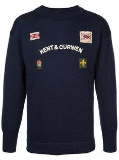 свитер с нашивками Kent & Curwen