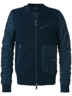 куртка-бомбер с логотипом Armani Jeans