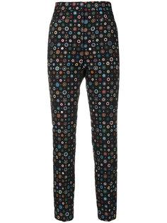 брюки с цветочной вышивкой  Paul Smith