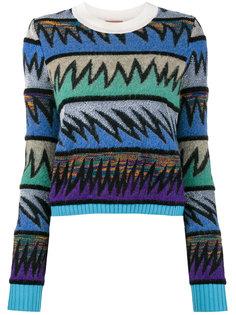 свитер с круглым вырезом и геометрическим узором  Missoni
