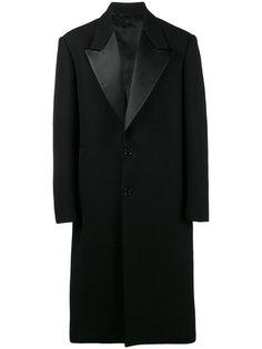 классическое пальто с заостренными лацканами Raf Simons
