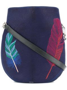 сумка на плечо с принтом перьев Paul Smith