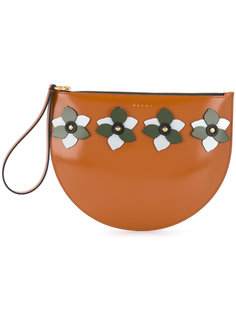 flower appliqué clutch bag Marni