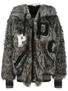 куртка-бомбер с капюшоном в виде волка Dolce & Gabbana
