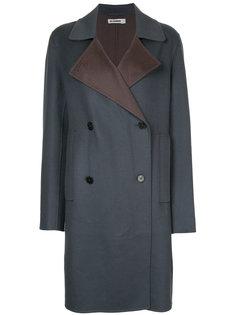 двубортное пальто  Jil Sander