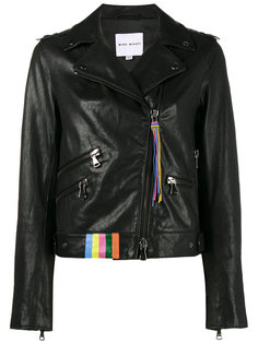 байкерская куртка с принтом  Mira Mikati