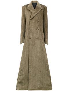длинное приталенное пальто  Y / Project