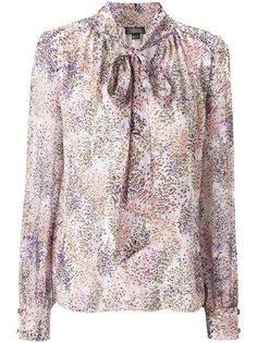 блузка с принтом и завязками Giambattista Valli