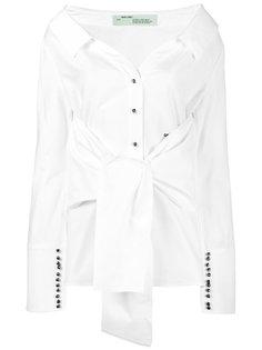 рубашка свободного кроя с открытыми плечами Off-White