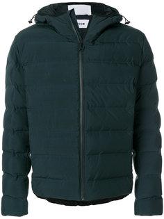 пуховая куртка с капюшоном MSGM