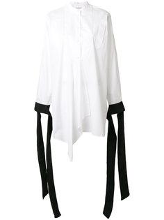 асимметричная рубашка с драпировкой  J.W.Anderson