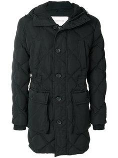 стеганое пальто с геометрическим узором Cerruti 1881