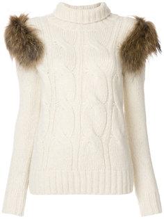 fur details jumper  Forte Couture