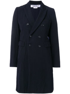 двубортное пальто с заостренными лацканами  Comme Des Garçons Comme Des Garçons