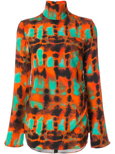 high neck printed blouse Ellery