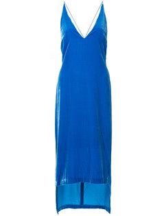 бархатное платье-комбинация Dion Lee