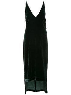 бархатное платье с удлиненным подолом Dion Lee