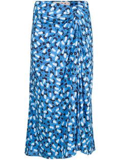 юбка миди с драпировкой и цветочным принтом  Marni