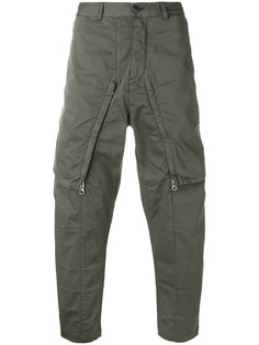 зауженные брюки на молнии Stone Island Shadow Project