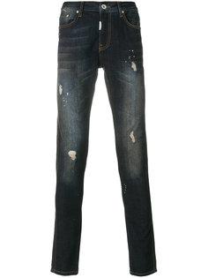 джинсы скинни с линялым эффектом Represent