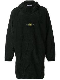 свитер с капюшоном и заплаткой с логотипом Stone Island