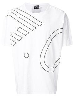 футболка с графическим принтом Ea7 Emporio Armani