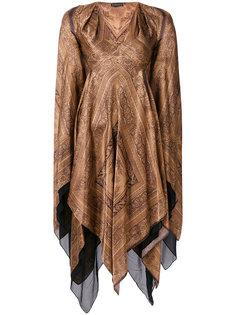 платье с V-образным вырезом и драпировкой Plein Sud