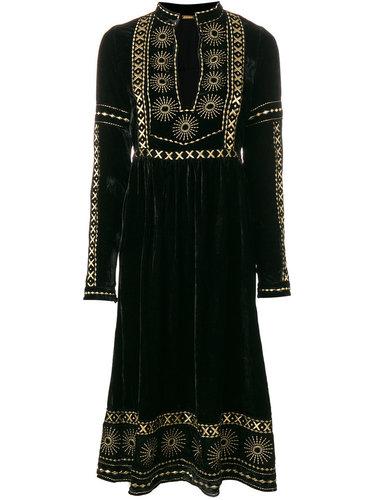 платье миди с вышивкой Dodo Bar Or