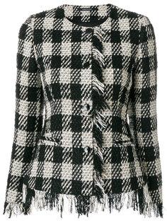 клетчатый пиджак с бахромой по краям Tagliatore