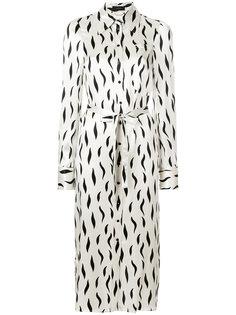 платье-рубашка с принтом волнистых линий Joseph