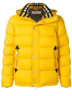 пуховая куртка со съемными рукавами Burberry