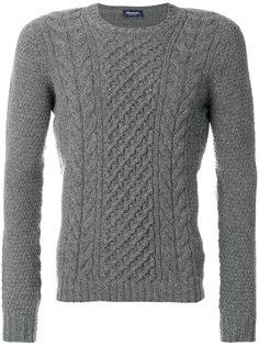 свитер вязки с косичками Drumohr