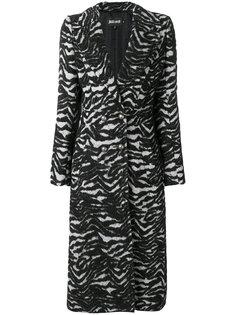 удлиненное пальто с анималистичным принтом Just Cavalli