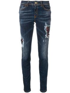 джинсы скинни с эффектом потертости Just Cavalli