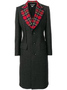 пальто с узором тартан на лацканах  Junya Watanabe Comme Des Garçons