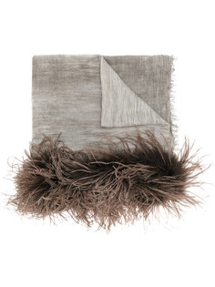 шарф с меховой отделкой Melanie Cutuli Cult