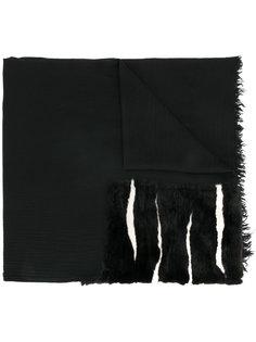 шарф с меховыми вставками Belirim Cutuli Cult