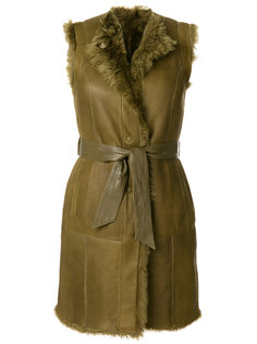 belted shearling gilet  Drome