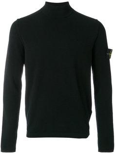 классический свитер с отворотной горловиной Stone Island