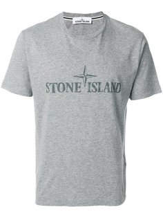 футболка с заплаткой с логотипом Stone Island
