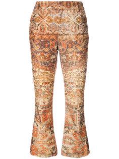 укороченные расклешенные брюки Frame Denim