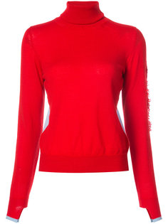 distressed roll neck pullover Barrie