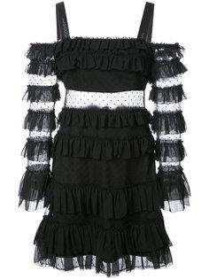 расклешенное платье с рюшами Alexis